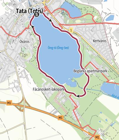 Térkép / Tatai-tókör: séta a vizek városában
