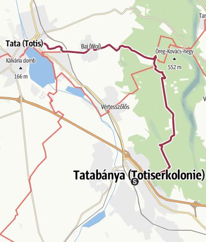 Térkép / A panelrengetegből a királyi várhoz - Tatabányáról Tatára a hegyeken át