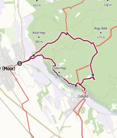 Map / Móri körtúra a Vértes rengetegeiben