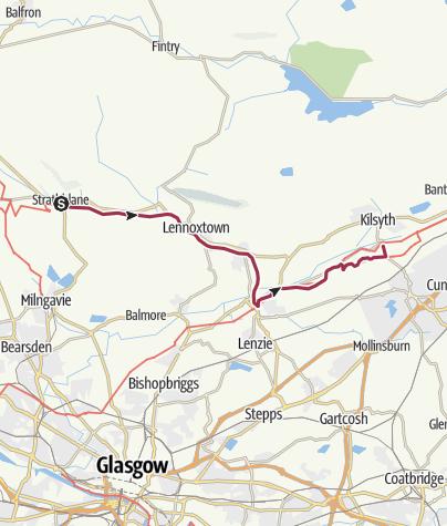 Map / Strathblane to Kilsyth