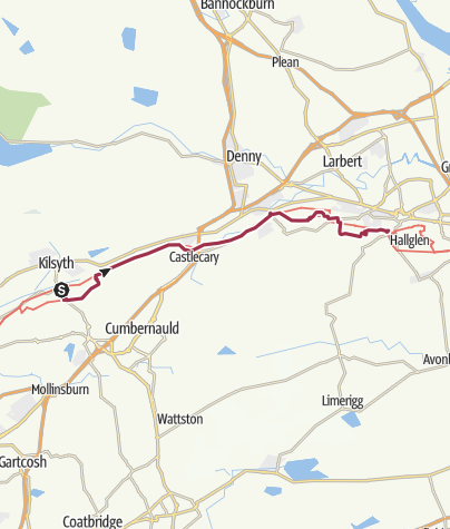 Map / Kilsyth to Falkirk
