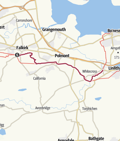 Map / Falkirk to Linlithgow