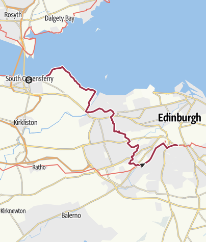 Map / South Queensferry to Edinburgh