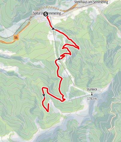 Karte / Windpark Pretul: Von Spital zur Friedrichhütte und Schwarzriegelalm