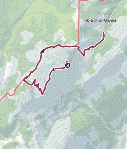 Map / Vom Moléson nach Moléson-sur-Gruyères