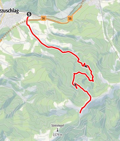 Karte / Windpark Pretul: Auersbach - Moschkogel - Roseggerhaus