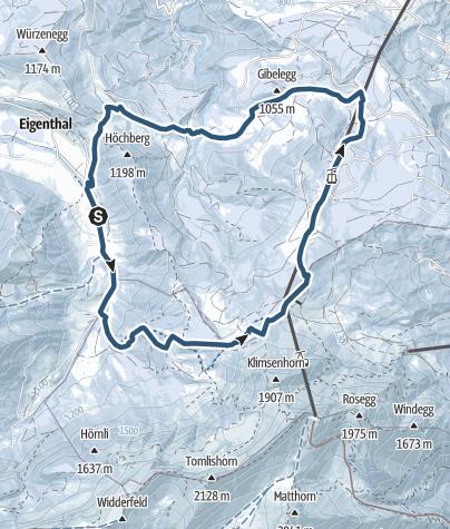Map / Eigenthal valley to the Fräkmüntegg and Krienseregg