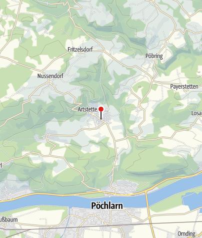 Map / E-Bike Ladestation: Hauptstraße 11 in Artstetten