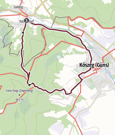 "Karte / ""alpannonia"" - Rundweg Rattersdorf-Köszeg-Rattersdorf"