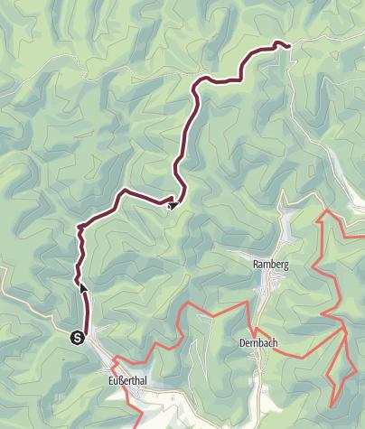 Karte / 05 Eußerthal - Von Platz 5 Eußerthal nach Platz 6 Heldenstein