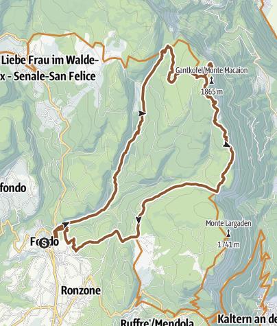 Cartina / Tour 1411 - Macaion Climax: il massimo del piacere del biker sulla cima del Monte Macaion
