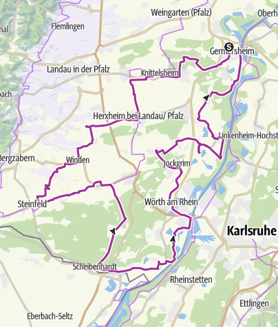 "Karte / Südpfalz - ""Radel ins Museum""-Tour"