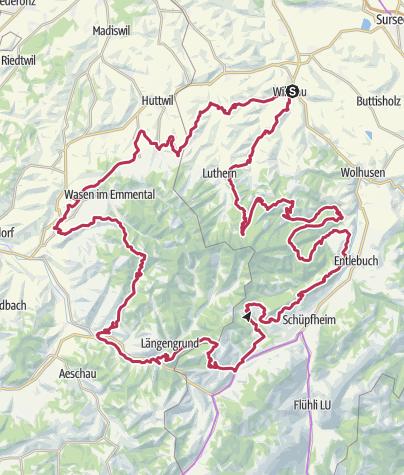 Karte / E-Bike Rundtour Herzschlaufe Napf ( (SchweizMobil Route 399)