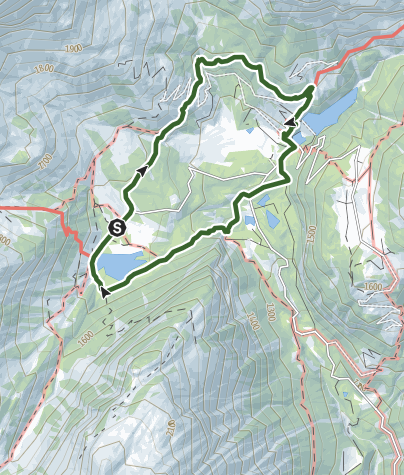 Map / Tour de l'éboulement des Diablerets