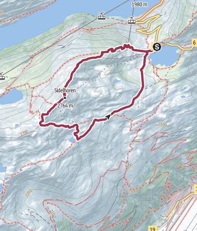 Karte / Vom Grimselpass auf das Sidelhorn