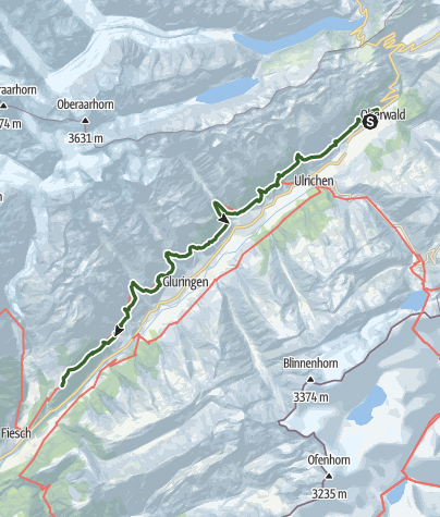 Karte / Gommer Höhenweg