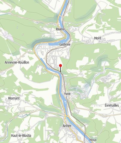 Kaart / Rochers du Paradou (Yvoir)