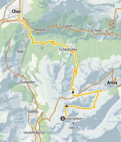 Kaart / Rothorn-Chur