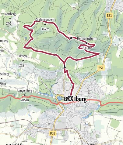 Karte / TERRA.track: Kneipp to go