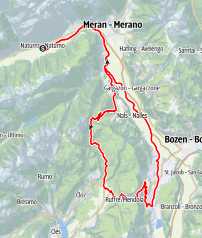 Kaart / Rennrad - Mendelpass Tour