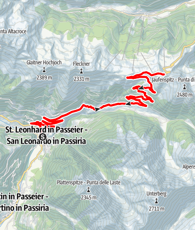 Mapa / Rennrad - Jaufenpass Tour