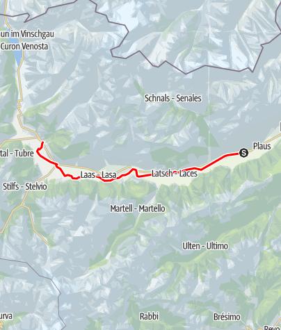Карта / Vinschgau Panorama Tour