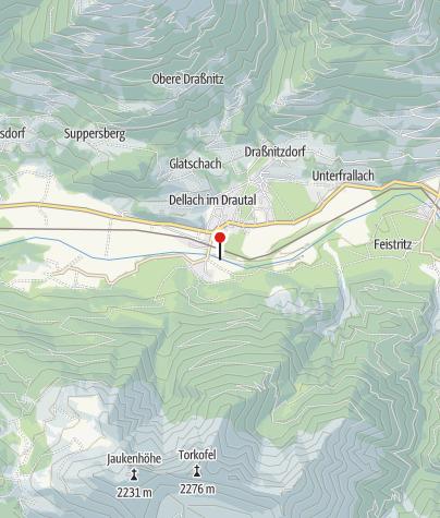 Karte / Anhaltemöglichkeit Drauoase Dellach