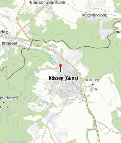 Karte / Sziget Vendégház (Kőszeg)