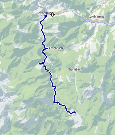 Karte / Luchs Trail Etappe 01 Reichraming-Anlaufalm