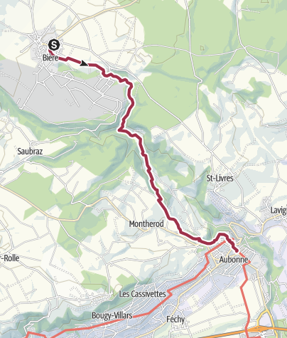 Map / Von Bière nach Aubonne