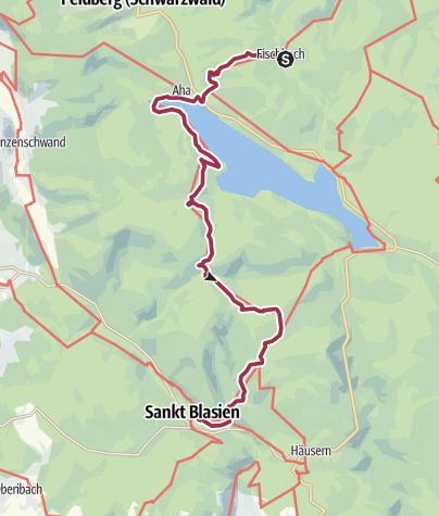 Kaart / Fischbach to St. Blasien