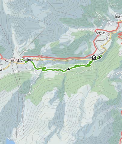 Map / Von Disentis zum Badesee Lag da Claus