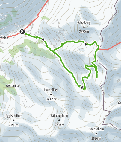 Karte / Wanderung zum Gafiersee