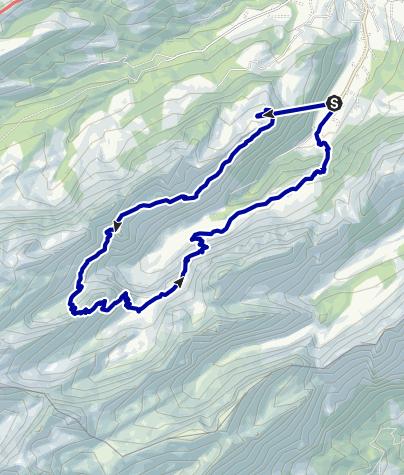 Kaart / Appenzell, het huis in de rots