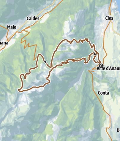 Cartina / Tour 1438 - 8 bello del Peller: doppio anello al Monte Peller