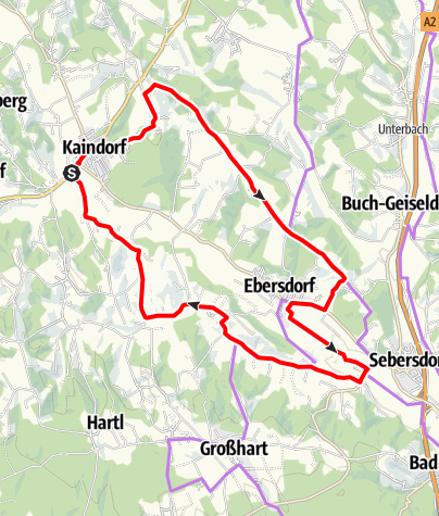 Karte / Ökoregion Kaindorf Hopfen-Tour mit Waldbad-Schleife