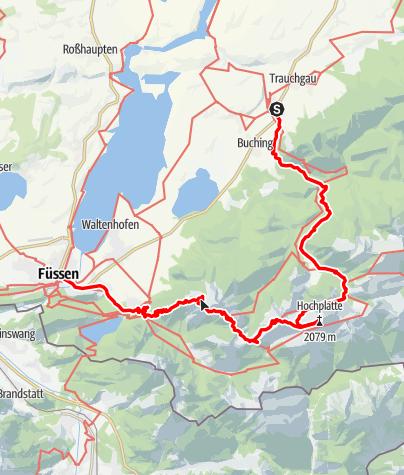 Kaart / Fussen, in de sprookjeswereld van koning Ludwig II