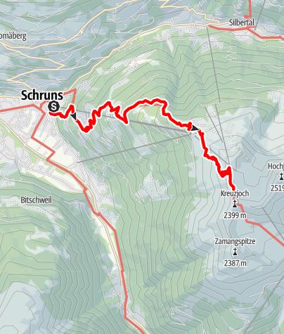 Map / Zustieg Wormser Hütte von Schruns