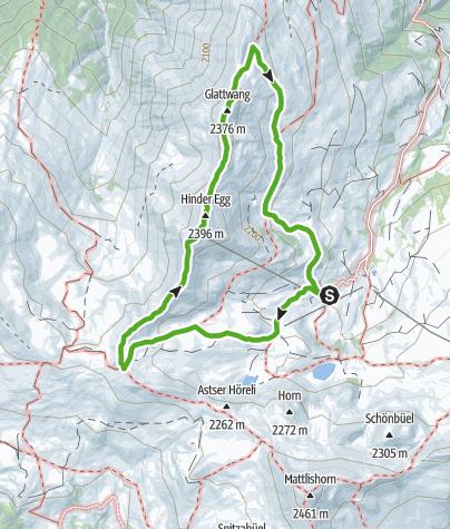Karte / Rundwanderung Glattwang