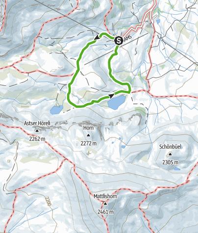 Karte / Rundwanderung Cluner Seen