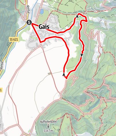 Mapa / Gaisinger Waalweg