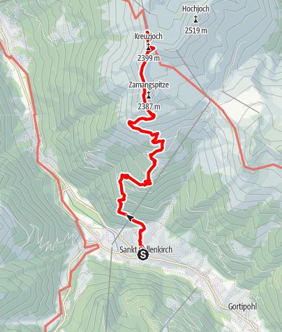 Karte / Zustieg Wormser Hütte von St. Gallenkirch