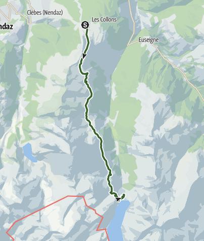 Map / Tour du Val d'Hérens: Thyon – Grande Dixence (stage 1)