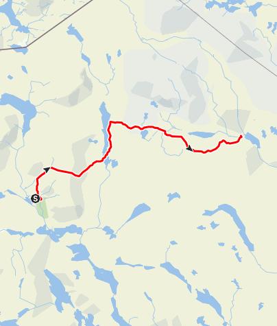 Kaart / Zuidelijke Kungsleden (Hemavan-Ammarnäs)