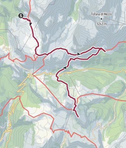Map / Rifugio Scotoni to Rifugio Nuvolau