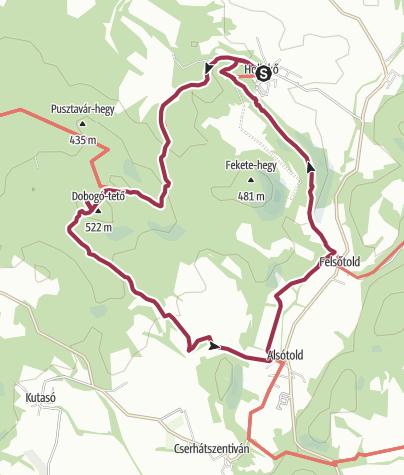 Térkép / Hollókői körtúra a Dobogó-tetőre