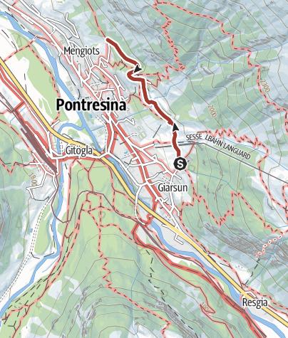 Cartina / Steinbock-Promenade Pontresina