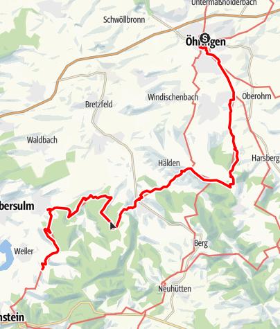 Karte / Württembergischer Weinwanderweg Öhringen - Obersulm