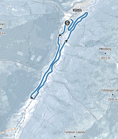 Map / Langlauf-Loipe Vättis-Kunkels
