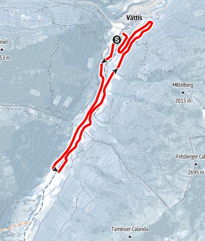 Map / Cross-country ski slope Vättis-Kunkels